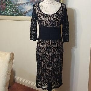 womens black lace evening dress size 10 eva mendes